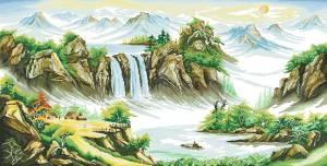 Схема Китайский пейзаж