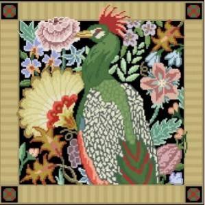 Схема Птица в саду (квадратная)