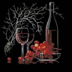 Схема Натюрморт с красным вином