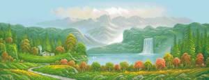 Схема Красивый водопад