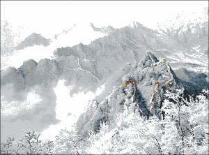 Схема Китайская стена (зима)