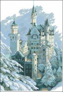Схема Замок зимой