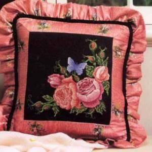 Схема Розы на черном, правый угол