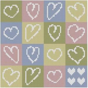 Схема Подушка с сердечками