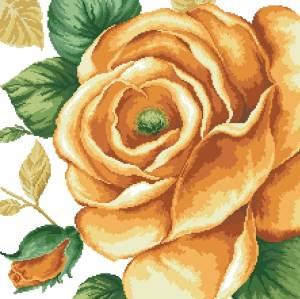 Схема Большая желтая роза