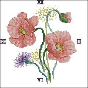 Схема Часы с маками