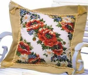 Схема Цветы для подушки