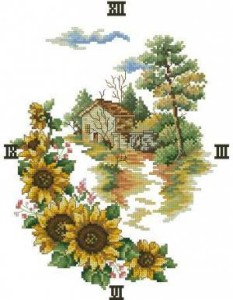 Схема Пейзаж с подсолнухами