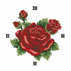 Схема Красная роза