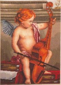 Схема Ангел с виолончелью
