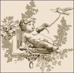 Схема Ангелок с голубем