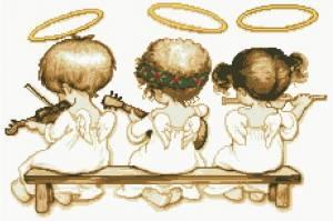 Схема Небесные музыканты (монохром)