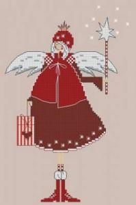 Схема Новогодний ангелок, звездочки