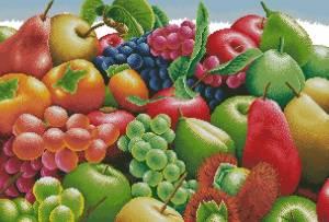 Схема Экзотические фрукты