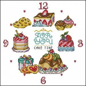 Схема Часы с пирожными