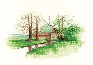 Схема Мельница у реки