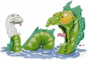Схема Смешной дракон
