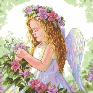 Схема Цветочный ангел