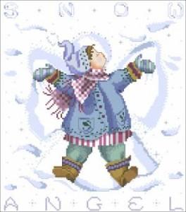 Схема Снежный ангел Мальчик