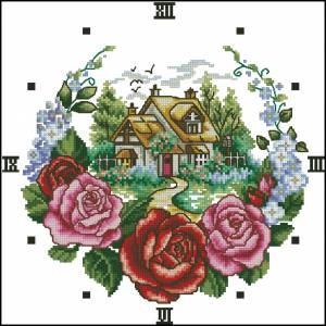 Схема Дом в цветах