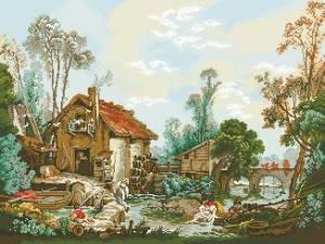 Схема Пейзаж / Watermill