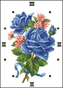 Схема Букет синих роз