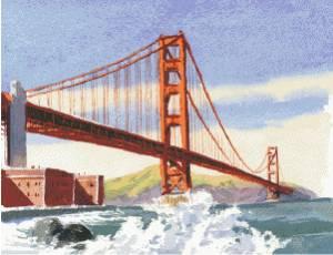 Схема Золотые ворота / Golden Gate Bridge
