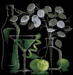 Схема Натюрморт с мартини