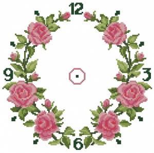 Схема Розовый венок