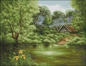 Схема Дом у пруда