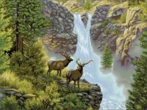 Схема Водопад (с оленями)