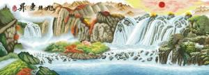 Схема Большой водопад