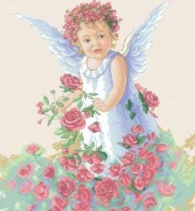 Схема Ангел в розах