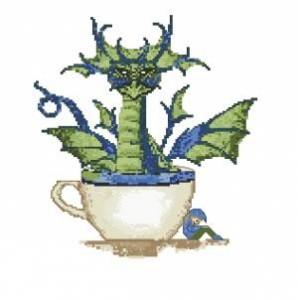 Схема Дракон в чашке