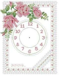 Схема Розовые розочки