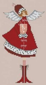 Схема Новогодний ангелок, горошек