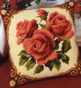Схема Розы с орнаментом (темные)