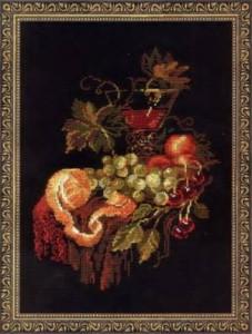 Схема Виноградный натюрморт с фруктами