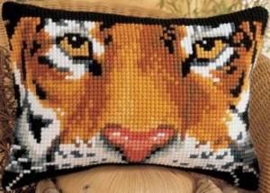 Схема Прямоугольная подушка. Тигр
