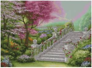 Схема Лестница в саду