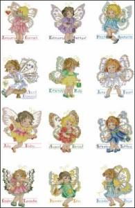 Схема Календарь с феечками