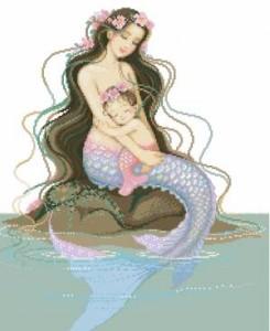 Схема Мама-русалка с малышкой