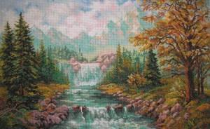 Схема Горный водопад