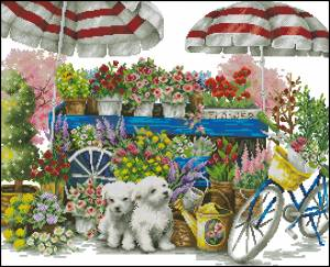 Схема Цветочный базар
