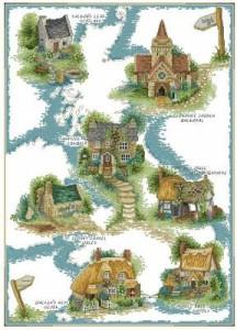 Схема Дома в деревне / Cottage Country