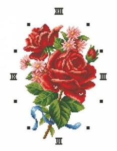 Схема Букет с красной розой