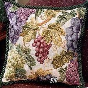 Схема Подушка с виноградом