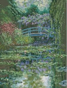 Схема Японский мост Моне / Monet's Japanese Bridge Picture