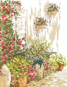 Схема Цветы у дома