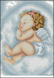 Схема Ангелочек в облаках